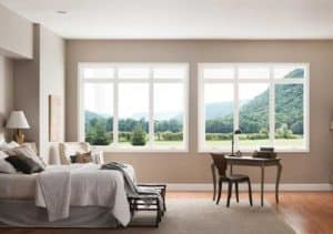 bedroom large glass window milgard 300x211