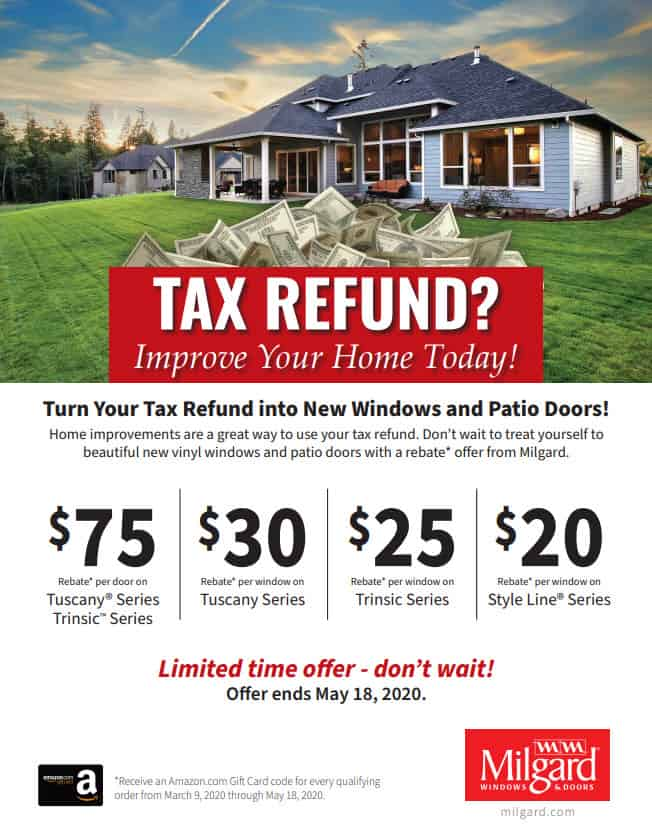 milgard tax refund special